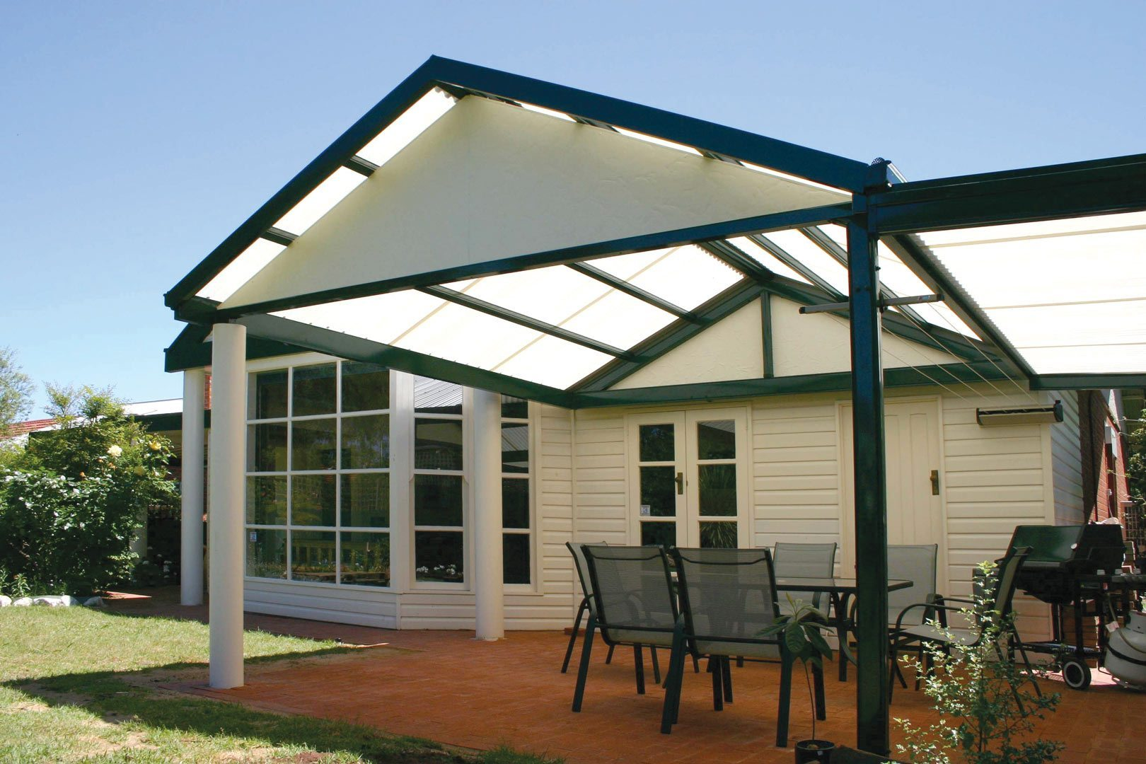 Pitched roof carport and verandah wholesalers for Carport roof pitch